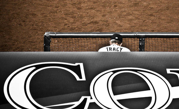 Americana Poster featuring the photograph Jim Tracy Rockies Manager by Marilyn Hunt