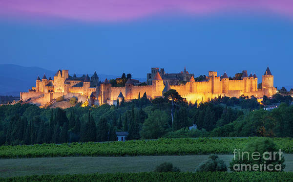 Architecture Poster featuring the photograph La Cite Carcassonne by Brian Jannsen
