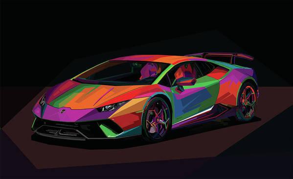 Lamborghini Huracan 2018 Poster By Naufal Opank