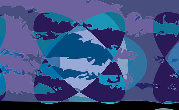 Abstract Poster featuring the digital art Large Me2 by Scott Davis