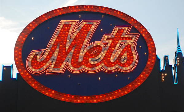 New York Mets Poster featuring the photograph Lets Go Mets by Richard Bryce and Family