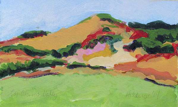 Central Coast Poster featuring the painting Los Alamos Valley by Deborah Hildinger