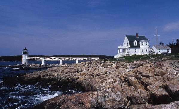 Marshall Point Poster featuring the photograph Marshall Point Light by Skip Willits