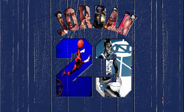 Michael Jordan Poster featuring the mixed media Michael Jordan Wood Art 2c by Brian Reaves