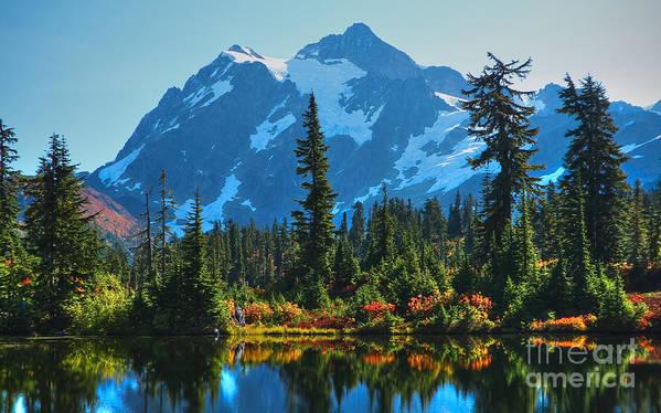 Mt. Shuksan Poster featuring the photograph Mt. Shuksan by Idaho Scenic Images Linda Lantzy