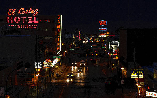 Art Poster featuring the painting Old Vegas by David Lee Thompson