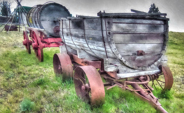 Hdr Poster featuring the photograph Old West Wagons by Thom Zehrfeld