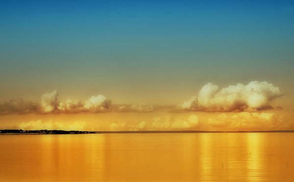 Orange Clouds Poster featuring the photograph Orange Clouds by Dapixara Art