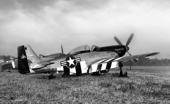 P-51 Poster featuring the photograph Quick Silver P-51 Mustang by Peter Chilelli