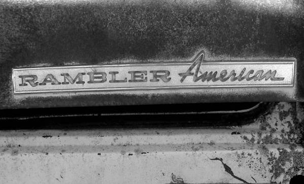 Car Poster featuring the photograph Rambler American by Audrey Venute