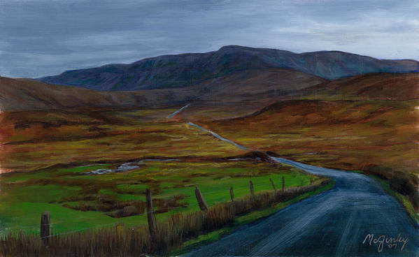 Landscape Poster featuring the painting Road To Glenveagh by Laurie McGinley