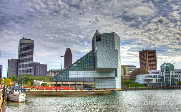 Rock And Roll Hall Of Fame Poster featuring the photograph Rock And Roll Hall Of Fame by Robert Pearson