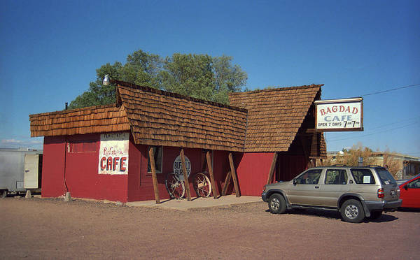 66 Poster featuring the photograph Route 66 - Bagdad Cafe by Frank Romeo