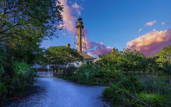 Lighthouse Poster featuring the photograph Sanibel Island by Marvin Spates