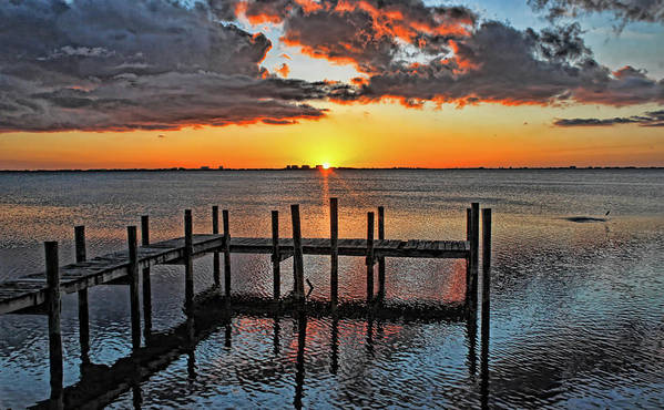 Sarasota Bay Poster featuring the photograph Say Goodnight by HH Photography of Florida