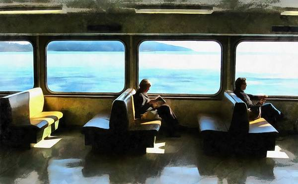 B.c. Ferry Poster featuring the photograph Seat In The Sun by Scott Witte