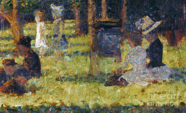 1884 Poster featuring the photograph Seurat: Grande Jatte, 1884 by Granger