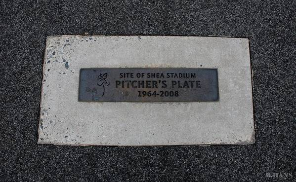Shea Stadium Poster featuring the photograph Shea Stadium Pitchers Mound by Rob Hans
