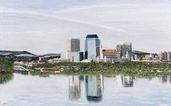 Reflections Poster featuring the painting Springfield Reflections by Richard Nowak