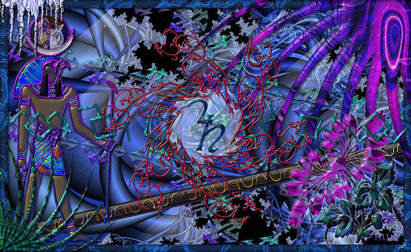 Poster featuring the digital art Symagery 29 by Kenneth Armand Johnson
