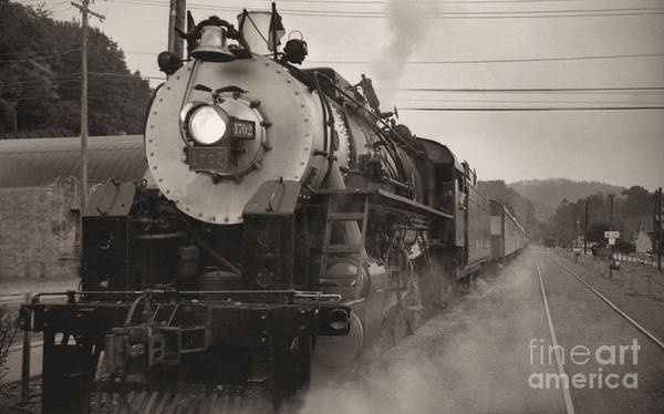 Trains Poster featuring the photograph The 1702 At Dillsboro by Richard Rizzo