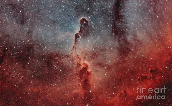 Glow Poster featuring the photograph The Elephant Trunk Nebula by Rolf Geissinger