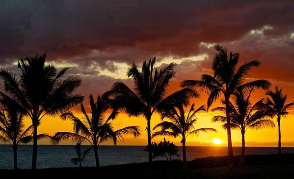 Hawai'i Poster featuring the photograph The Last Sunset by James Walsh