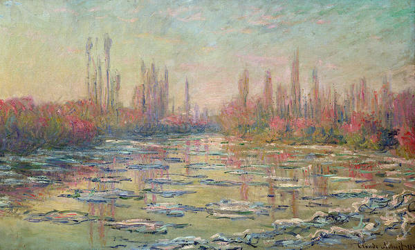 The Thaw On The Seine Poster featuring the painting The Thaw On The Seine by Claude Monet