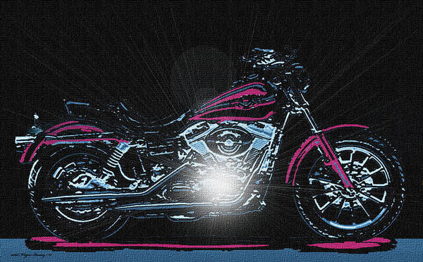 Motorcycle Poster featuring the painting The Work Horse by Wayne Bonney