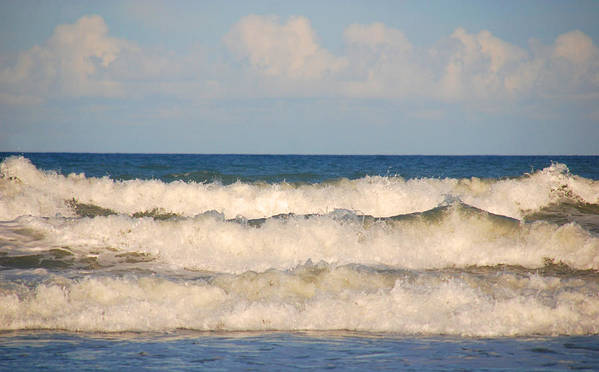 Tide Poster featuring the photograph Tide Rolling To The Shores by Susanne Van Hulst
