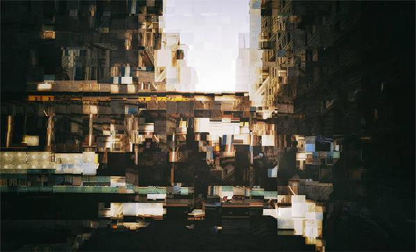Cubist Poster featuring the digital art Trolly by John Muellerleile