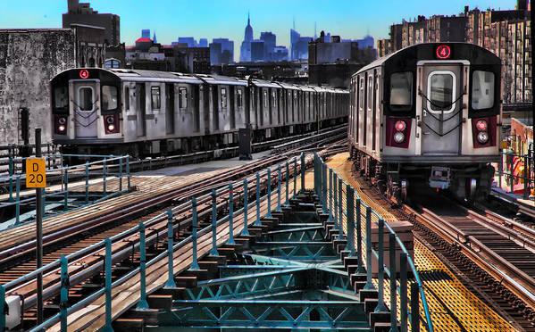 Trains Poster featuring the photograph Uptown And Downtown by June Marie Sobrito