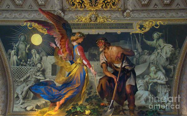 Fresco Poster featuring the photograph Vatican Art II by Al Bourassa