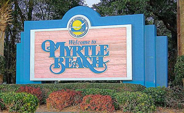 Welcome To Myrtle Beach Poster featuring the photograph Welcome To Myrtle Beach by Bob Pardue