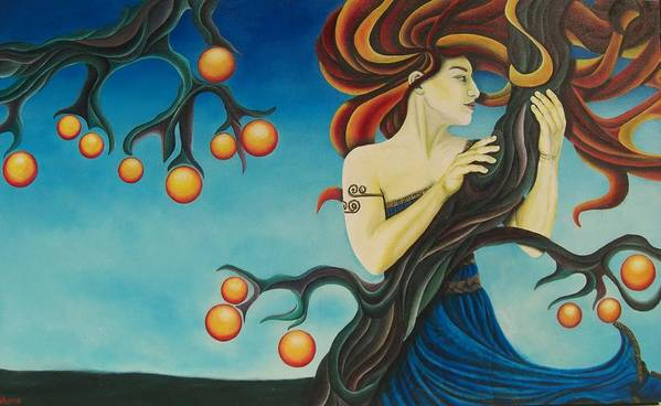 Acrylic Poster featuring the painting Windswept Eris by Is Art E Studio