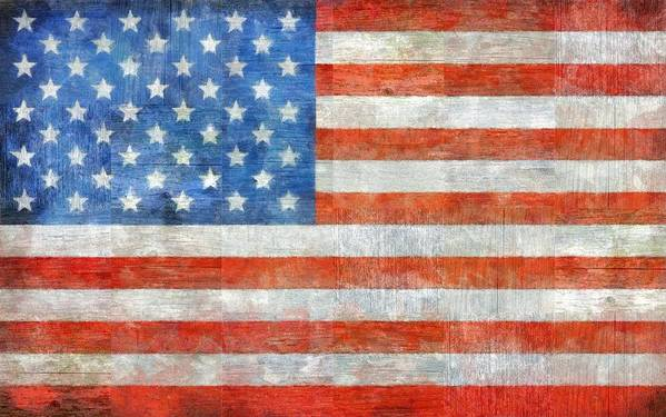 Flag Poster featuring the painting Homeland by Michelle Calkins