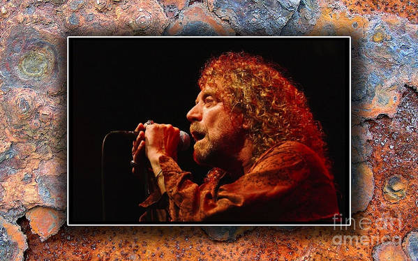Led Zeppelin Poster featuring the mixed media Robert Plant Art by Marvin Blaine