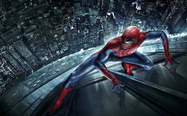 Spider-man Poster featuring the digital art Spider Man 210 by Movie Poster Prints