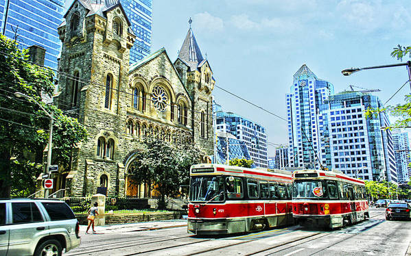 Toronto Poster featuring the photograph St Andrew Church In Toronto by Alex Pyro
