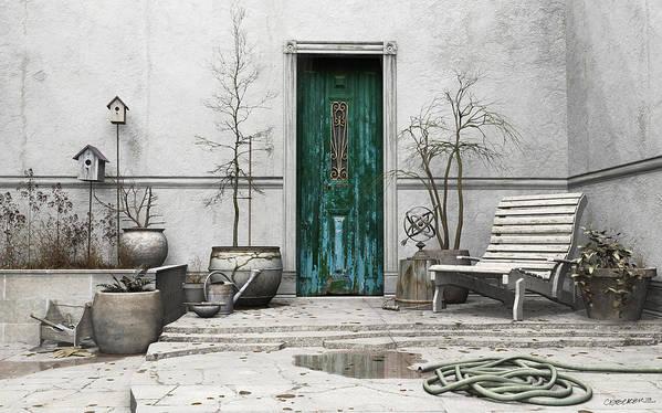 Garden Poster featuring the digital art Winter Garden by Cynthia Decker