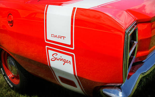 Mopar Poster featuring the photograph 1969 Dodge Dart Swinger 340 by Thomas Schoeller
