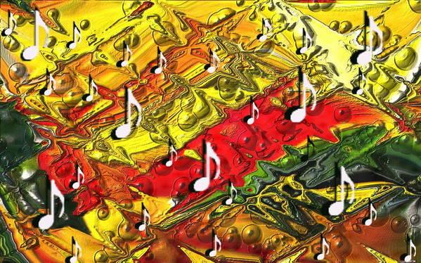 Music Poster featuring the digital art Bartok by Tinatin Dalakishvili