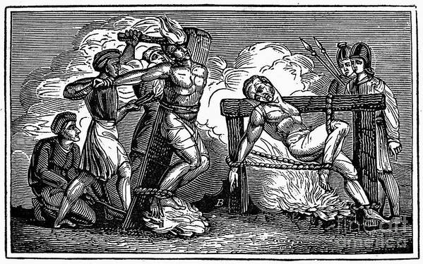1550 Poster featuring the photograph Heresy: Torture, C1550 by Granger