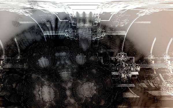 Fractal Digital Art Digital Art Poster featuring the digital art Shadow Construction by Ricky Jarnagin