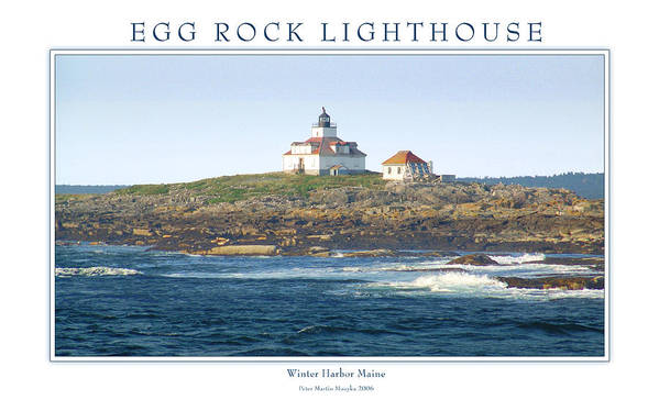 Landscape Poster featuring the photograph Egg Rock Island Lighthouse by Peter Muzyka