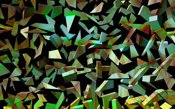 Abstract Art Poster featuring the digital art Broken Dreams by Evelyn Patrick