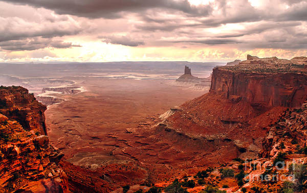 Panoramic Poster featuring the photograph Canyonland Rain by Robert Bales