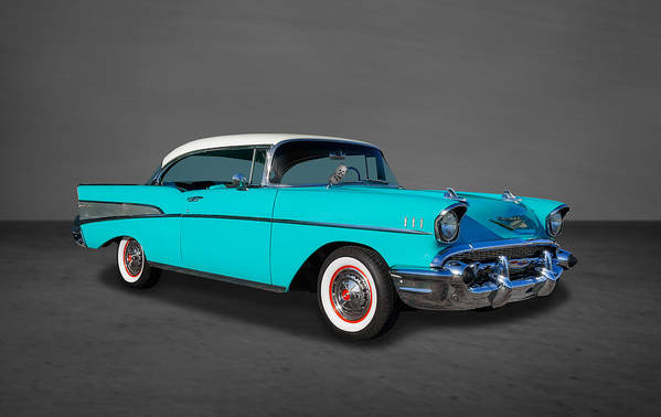 Frank J Benz Poster featuring the photograph Classic 1957 Chevrolet Bel Air Sport Coupe by Frank J Benz
