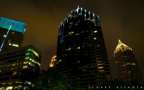 Atlanta Poster featuring the photograph Dark Atlanta by Jonathan Ellis Keys