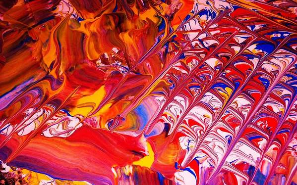 Modern-abstract Poster featuring the painting La Donna-detail by Adolfo hector Penas alvarado